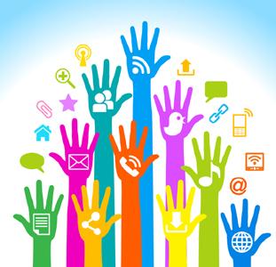 Social media hands